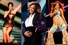 Beyoncé, Jennifer Lopez, and More Stars Who've Performed Pregnant Jennifer Lopez Pregnant, Pregnant Celebrities, Vanity Fair, Beyonce, Celebrity Maternity, Stars, Fashion Glamour, Vanity Fair Magazine, Star