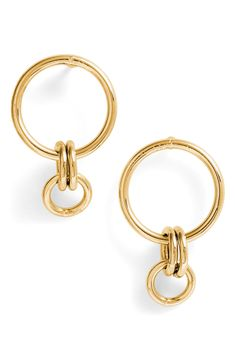 74f402c1a Melinda Maria Jackson Interlocking Hoop Earrings | Nordstrom