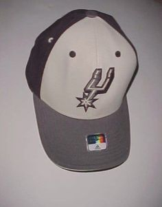 San Antonio Spurs Logo NBA adidas Adult Unisex Black Gray Cap One Size New #adidas #BaseballCap