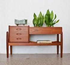 Image result for mid century modern wooden planter