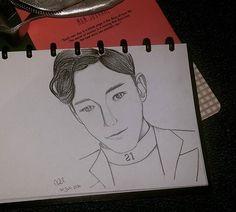 I'll be the lucky one~ 🍀 #chen #exo #exom #첸 #엑소 #fanartexo #fanart #sketch  @rhinnemma
