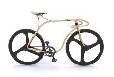 Bici de madera de haya y fibra de carbono