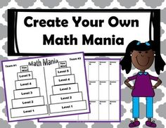 Students create their own Math Mania Review Game and challenge their classmates! Great end of the year review resource.