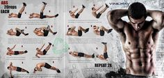 Sixpack Workout - Healthy Fitness Ab Exercises Repeat Gym Crunch - PROJECT NEXT - Bodybuilding & Fitness Motivation + Inspiration