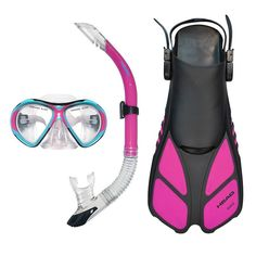 Head 3-pc. Xray Sailor Splash Quest Travel Snorkel Set,