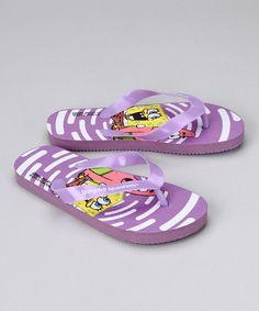 Take a look at this Nickelodeon Purple SpongeBob SquarePants Flip-Flop by Blow-Out: Kids' Shoes on #zulily today!