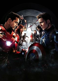 Captain America: Civil War Movie Poster ( of Marvel Avengers, Marvel Comics, Films Marvel, Marvel E Dc, Marvel Characters, Marvel Heroes, Ultron Marvel, Captain America Civil War, Wallpaper Marvel