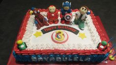 Superheroes Cake Cakes For Men, Birthday Cake, Boys, Desserts, Crafts, Baby Boys, Tailgate Desserts, Birthday Cakes, Children