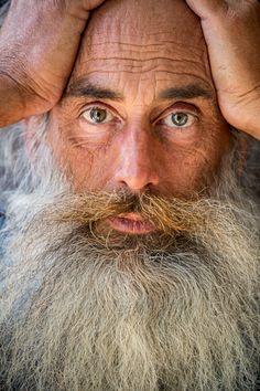 'Street casting, Long-beard' by Robert Houser (United States) Grey Beards, Long Beards, Epic Beard, Under The Moon, Portfolio Images, Hair Reference, Facial Hair, Bearded Men, My Hair