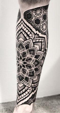 50 of the Most Beautiful Mandala Tattoo Designs for Your Body & Soul - awesome . - 50 of the Most Beautiful Mandala Tattoo Designs for Your Body & Soul – awesome leg mandala tatto - Mandala Tattoo Design, Mandalas Tattoos, Dotwork Tattoo Mandala, Geometric Mandala Tattoo, Tattoo Designs, Henna Designs, Tattoo Calf, Leg Sleeve Tattoo, Leg Tattoo Men