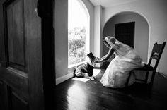 photo of bride with dog at wedding by Callaway Gable   junebugweddings.com