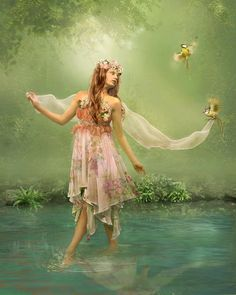 It is quite possible to leave your home for a walk in the early morning air and return a different person  beguiled enchanted...Author - Mary Ellen Chase...Art -    Lotta Lotos Deviantart