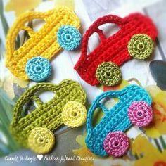 Crochet Flowers Ideas Crochet Pattern Central - Directory of Free, Online Crochet Car, Crochet For Boys, Love Crochet, Crochet Crafts, Crochet Flowers, Crochet Projects, Crochet Toys, Diy Crafts, Motifs D'appliques