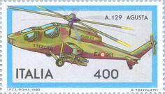 Sello: Italian Aircraft- Agusta (Italia) (Italian Aircraft) Mi:IT 1835,Sn:IT 1553,Yt:IT 1567,Sg:IT 1793,Un:IT 1638