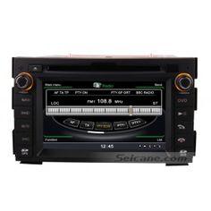 Duplo Din leitor de DVD Independente para o Carro estéreo para 2010 KIA Ceed com Pronto para navegação 3G WiFi GPS integrada BT HD Sintonizador de Rádio AV Entrada/Saída
