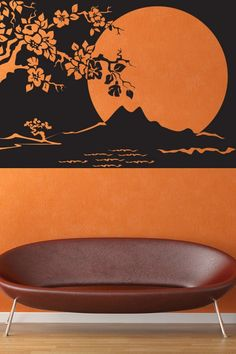Night Landscape Wall Sticker. The soothing full moon night landscape is an awesome wall sculpture that creates a tranquil ambiance which will mesmerize the eyes of onlookers. The exquisite river, mountain and plant view only add to the magnificence and gorgeousness of the wall art. http://walliv.com/night-landscape-wall-sticker-art-decal