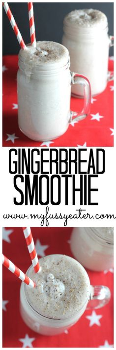 Thick and creamy with a hint of sweet vanilla and subtle spices, this dairy free Gingerbread Smoothie makes a fantastic healthy Christmas breakfast