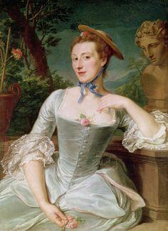 Jeanne Antoinette Poisson by François Hubert Drouais.  Buttons!