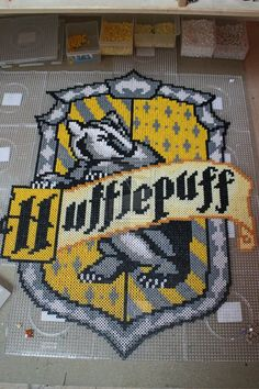 Hufflepuff House emblem - Harry Potter perler beads by mininete on deviantART