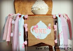 Your place to buy and sell all things handmade First Birthday Photos, Girl First Birthday, First Birthday Parties, First Birthdays, Tea Party Birthday, Birthday Party Decorations, Birthday Ideas, Birthday Highchair, Burlap Flag