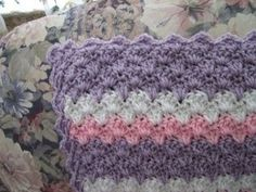Cute pattern for baby blanket.