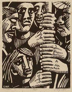 Great woodcut print, Peter Gourfain