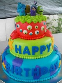 Would love to be able to make a cake like this for my daughter.  Monsters Inc!!