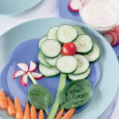 Healthy & fun spring snack - perfect for after school!
