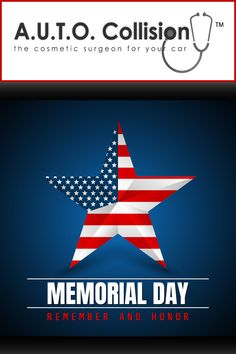 Have a safe holiday weekend. Remember those that sacrificed their lives serving our great nation! Auto Collision, Remember The Fallen, Happy Memorial Day, Memories, Holiday, Life, Vacation, Holidays, Remember This
