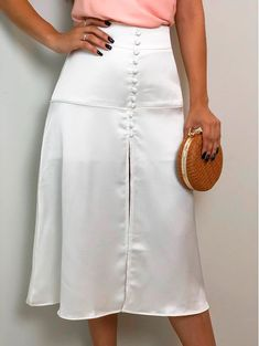 Saia Midi Shine Off Simple Fall Outfits, Fall Fashion Outfits, Look Fashion, Womens Fashion, Autumn Fashion Grunge, Look Office, Conservative Fashion, Future Clothes, Fashion Design Sketches