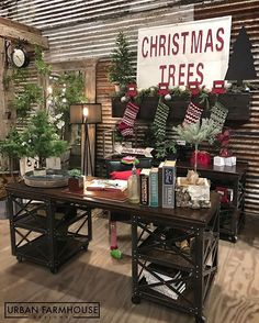 Only a Scrooge wouldn't want to Decorate their Office for Christmas! And Yes.. Our Office Chair has on Elf Stockings.  #UFD #UrbanOffice #HeLikesHisStockings