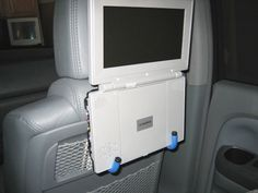 DIY portable car seat DVD player hack