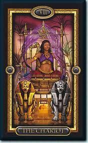 gilded tarot card images - 7 o carro