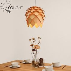 68.00$  Buy here - http://ali7u2.worldwells.pw/go.php?t=32650284395 - Creative pine cone wooden pendant light Europe Hand Crafted Handmade Wood hanging lamp Japanese light For Bar Coffee Room 68.00$
