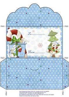 Christmas Teddies Galore Money Wallet on Craftsuprint designed by Michael Tullio - This is a money wallet which has been designed for christmas. - Now available for download!