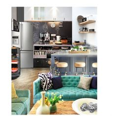 Small Kitchen / Open Layout, created by annmaira on Polyvore