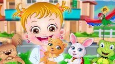 Em Bebê Hazel Hospital de Pets, a linda Bebê Hazel gosta muito de animais e tem vários bichos de pet. Só que eles ficar dodói e ela está precisando de sua ajuda. Ajude a Bebê Hazel cuidar e tratar de todos os filhotinhos que estão doentes. Cada um tem um problema diferente e você precisa cuidar de todos. Divirta-se jogando com a Bebê Hazel!