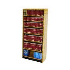 """W.C. Heller Open Back Single Face Shelf 96"""" Standard Bookcase Finish: Walnut"""