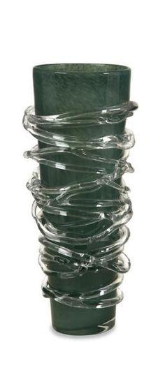 Glacier Spun Glass Neptune Vase