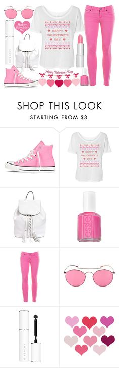 """""""happy Valentine's day"""" by j-n-a ❤ liked on Polyvore featuring Converse, Rebecca Minkoff, Essie, J.Crew, Mykita, Givenchy, michael marcus cosmetics, women's clothing, women and female"""