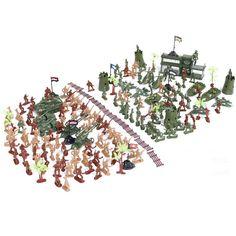 WWII Second World War 188pcs/set Soldier Military sand table model Model static model Gift for Commander Boys