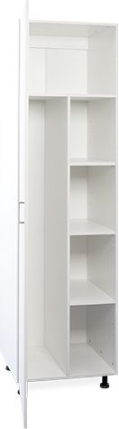 600mm 1 door white laundry broom cupboard Modular Cabinets, Utility Cabinets, Laundry Cabinets, Office Cabinets, Extra Storage Space, Storage Spaces, The Office, Cupboard, Locker Storage