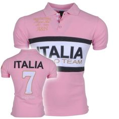 Montazinni - Men polo with short sleeves - Royal Polo - Light Pink - Moda Italia