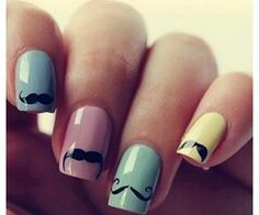 Mustaches nails