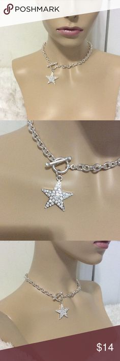 "I'M A STAR Rhinestone Necklace This STAR Pendant Necklace has a 1"" Star  with a 15"" silver chain. It truly makes a statement as to ""who"" you are. No Rhinestones are missing. JSB Jewelry Jewelry Necklaces"