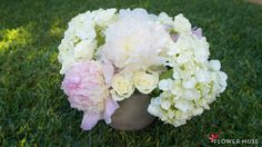 See how easy it is to create a beautiful white and blush pink centerpiece featuring peonies, hydrangeas and spray roses in this DIY tutorial. Pink Centerpieces, Spring Wedding Inspiration, Spring Wedding Flowers, Spray Roses, Diy Tutorial, Big Day, Blush Pink, Muse, Our Wedding