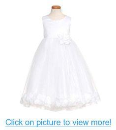 Kids Dream White Petal Flower Girl Dress Girls 2T-12