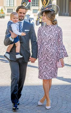 Prince Carl Philip of Sweden, Prince Alexander of Sweden and Princess Sofia of Sweden arrive for a thanksgiving service on the occasion of The Crown Princess Victoria of Sweden's 40th birthday celebrations at the Royal Palace on July 14, 2017 in Stockholm, Sweden.