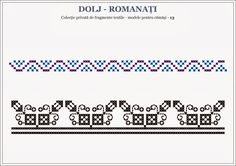 Semne Cusute: Romanian traditional motifs - OLTENIA - Dolj & Rom... Embroidery Motifs, Hama Beads, Beading Patterns, Pixel Art, Projects To Try, Cross Stitch, Traditional, Knitting, Group