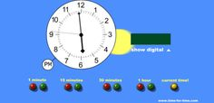 Interactive clock for teaching time